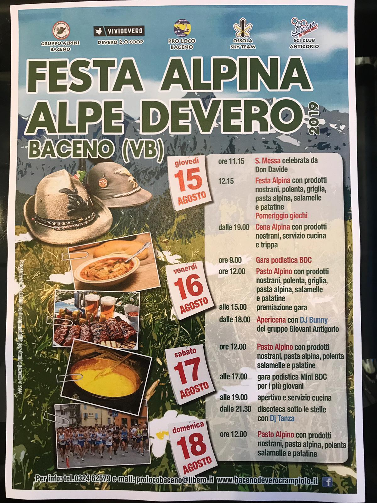 Cosa Cucinare Ad Agosto tradizionale festa alpina all'alpe devero - unione montana